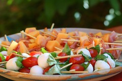 summer skewers (caprese, and melon-prosciutto) (Amelia PS) Tags: summer food cook eat appetizer melon prosciutto skewers caprese ameliaps