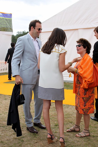 Greg Rusedski & Ruby Wax @ The Veuve Cliquot Gold Cup