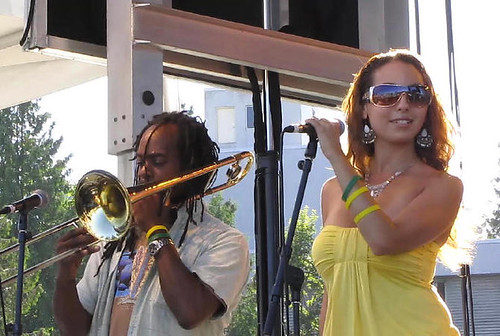 Backup Singer & Trumpet Player, Daddy Roy & The Messenger, Surrey Fusion Festival 2010 Multicultural and Diversity Celebration in Greater Vancouver