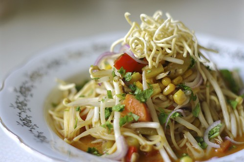 Curry Noodles in Coconut Milk Broth