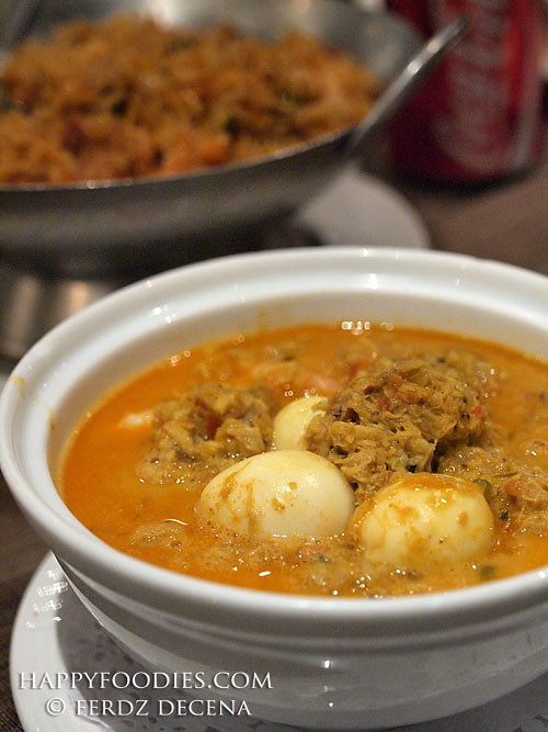 Curry Shrimp with Crab Meat
