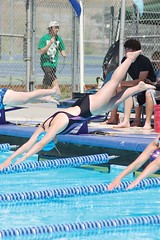 Maria Obradovich dives in at the start of the race. (Photo by LAUREN BROWN)