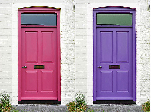 hot-pink-and-purple-door