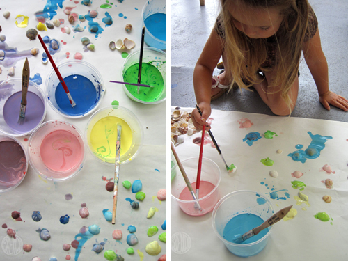 painting shells is a hit