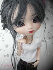 W a i t i n g (Miss G...) Tags: portrait cute stars grey leaf waiting doll wig groove pullip custom dollphotography nezumi junplanning rewigged