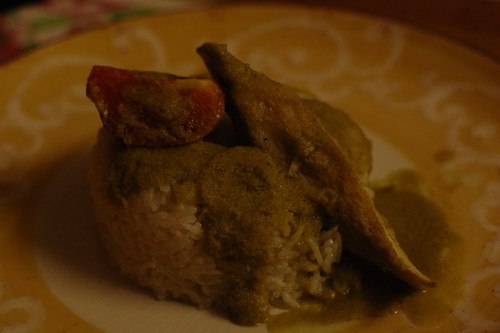 Pomfret in a green curry