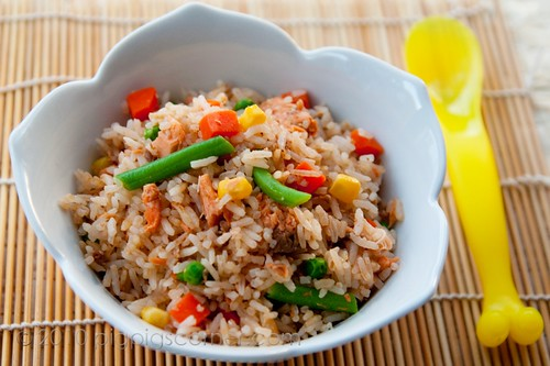 One pot rice with salmon 2