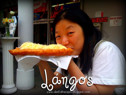 Lángos (Hungarian fried bread)
