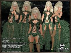 ezura + Lace-Top Brocade *Green (ezura Xue) Tags: ezura