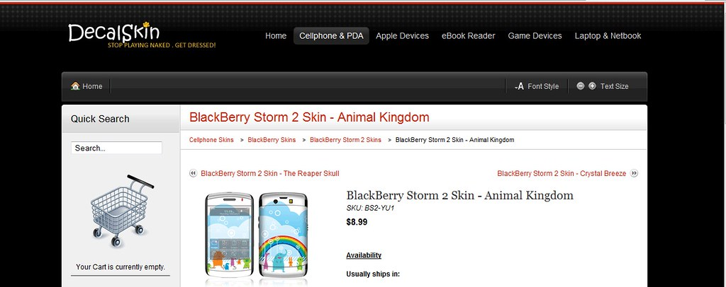 Blackberry storm 2 skins, Dell mini laptop skins, Samsung eternity skins & iTouch skins