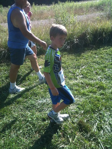 Jacob worn out during the fun run