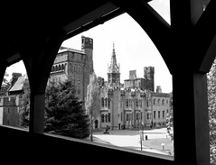 Cardiff Castle ~ mono 2 (* RICHARD M (Over 9.5 MILLION VIEWS)) Tags: old castles monochrome southwales wales architecture mono blackwhite frames spires towers cardiff cities historic glamorgan cardiffcastle saltmead