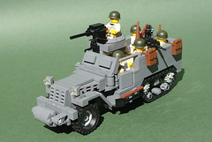 M3A1 Half-Track (2) (Dunechaser) Tags: usa army us lego military worldwarii american armor ww2 m3 apc halftrack allies allied m3a1 brickarms