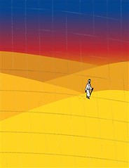The Heat of Ramadan Approaches (TheBlackRhino) Tags: sunset holiday man black hot male green nature cane illustration sunrise walking religious dawn one sand alone desert robe african dunes muslim islam dune hill religion fast scene hills holy staff walker arab heat distributed footsteps messenger traveling wilderness turban ramadan desolate vector prophet islamic beduin imam fasting traveler cleric herdsman isyndica