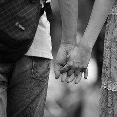 the ART of Holding Hands (ajpscs) Tags: street bw love blancoynegro boyfriend japan japanese tokyo blackwhite hands nikon girlfriend streetphotography monochromatic romance relationship  romantic nippon  blkwht holdinghands sweetheart grayscale companion darling beloved dearest inlove steady kagurazaka d300   monokuro ajpscs