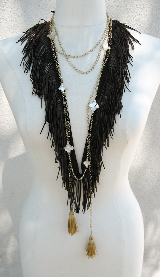loveMaegan-Fringe Necklace-4, diy, diy fashion, easy diys, how to make a bohemian necklace, e how, do it yourself, accessories, fashion