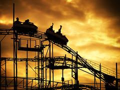 Rollercoaster orange (Mike Ashton) Tags: sky orange cloud holiday beach fun coast seaside fairground explore portsmouth rollercoaster funfair thrills 44 southsea skyways clarencepier dapagroupmeritaward3 dapagroupmeritaward2 canong11 shropthememotion spsfeatured