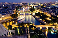 Une nuit a Paris... (Pink Pixel Photography (f.k.a. Sunny)) Tags: city longexposure paris france night lights explore bluehour frontpage jadoreparis imissparis viewfromnotredame parisisalsocalledthecityoflights