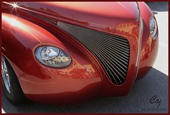 Primo Front (C.A.J.) Tags: red hot car headlights grill rod custom