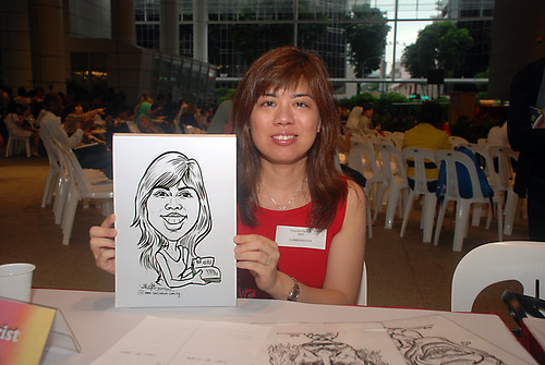 Caricature live sketching for KidsRead Volunteer Appreciation Day 2010 - 4