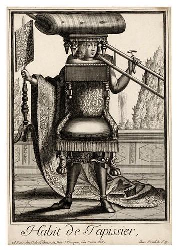 062-Vestimenta de tapicero-Les Costumes Grotesques 1695-N. Larmessin-BNF