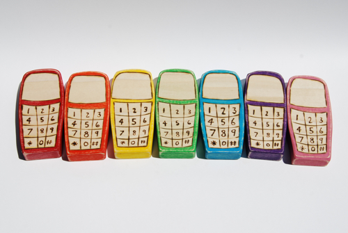 Wooden Phone Rainbow