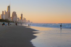 Sunset at Broadbeach towards north (Surfers Paradise) (Hopeisland) Tags: sunset sea beach water gold coast australia queensland soe     broadbeach     theunforgettablepictures     saltwater