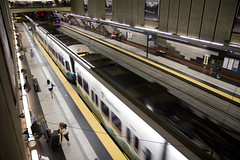 Travelers at University Street Station (Atomic Taco) Tags: soundtransit linklightrail dstt downtownseattletransittunnel