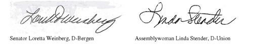 Screen shot of Weinberg/Stender signatures