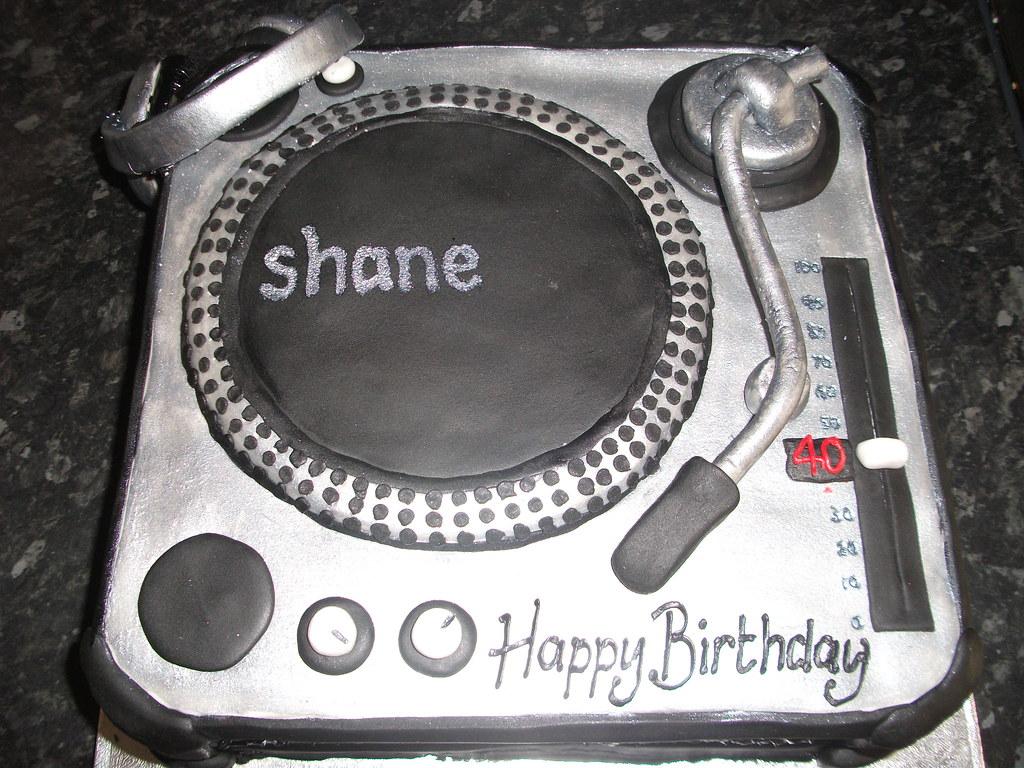 Single DJ Deck Cake