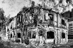 From the ruins, rise the new ones | In B&W (Sir Mart Outdoorgraphy) Tags: bw panorama building heritage ruins streetphotography oldbuildings panoramic georgetown photowalk penang hdr oldbuilding markhall heritagesites tonemapping penangflickr sirmart outdoorgraphy mattbrandon scottkelbysworldwidephotowalk2010