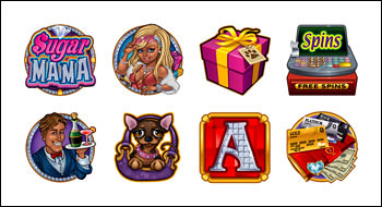 free Sugar Mama slot game symbols