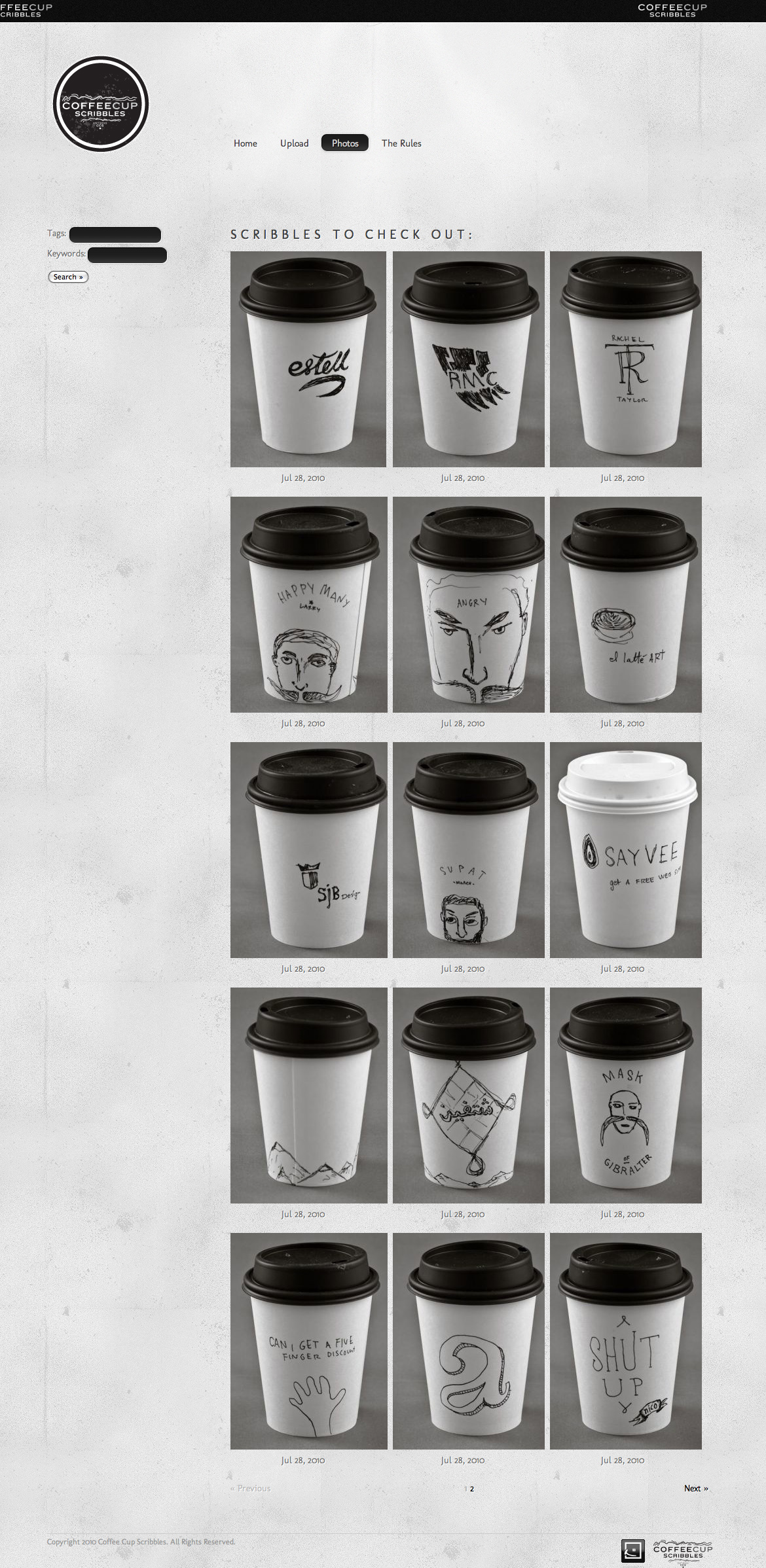 Coffee Cup Scribbles