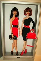 Night  and  Day (napudollworld) Tags: red black fashion barbie mini clone aphrodisiac androgyny royalty basic