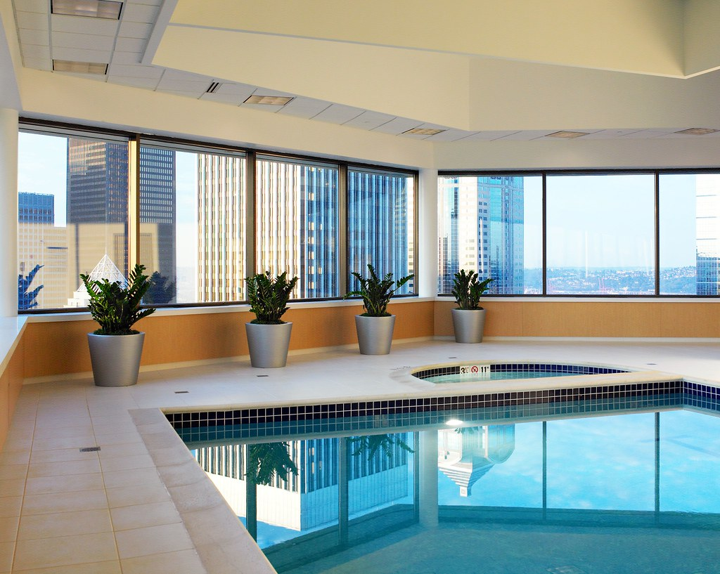 Indoor Pool Atop the Sheraton Seattle Hotel