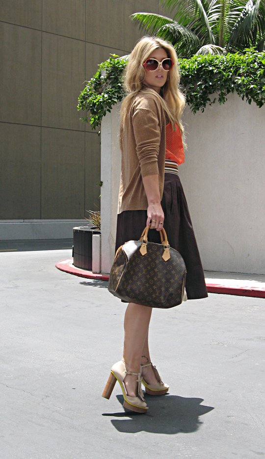 vintage sunglassses+louis vuitton speedy+skirt and cardigan+librarian+pour la victoire shoes