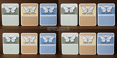 Butterfly Lace Stationery Set - All (prospurring (Anne)) Tags: blue green thanks butterfly ranger tan butterflies textile fawn hazel happybirthday sakura sunburst birthdays coloredpencils prismacolor heroarts stardust thankyous fiskars thinkingofyou diamondsintherough jetblack stonewash bestwishes swissdots cornerrounder stationeryset archivalink cuttlebug provocraft bazzillbasics waterproofinks divineswirl prospurring borderpunch cg130 borderpunches cl371 essentialmessages august2010a clingset clearglittergelpen