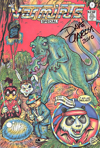 """Blue Comet Press"" v Special #1 ..featuring PANDA KHAN .. signed by Dave Garcia (( 1990 ))"