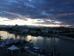 Sunset in Pescara I (BaroneBombini) Tags: sunset sky tramonto time cielo riflessi tempo infinite meditatio