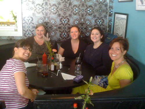 Carrie, Sarah, Meredith, Alison, and Anne Marie at Mama's Boy