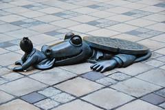 Get Back Here (thoth1618) Tags: nyc newyorkcity sculpture ny newyork art brooklyn alligator 2010 brooklynny metrotechcenter brooklynusa august2010 august72010