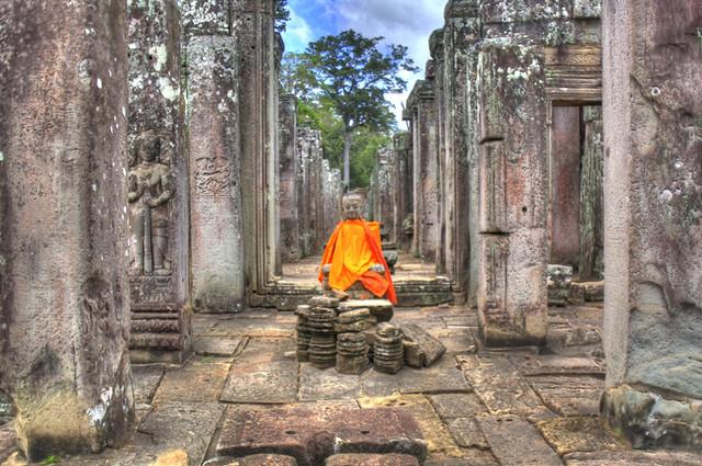Angkor Wat Orange Buddha HDR