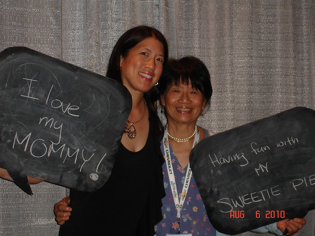 Me and my mom at BlogHer '10