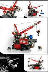 Ultra Heavy Maintnance Unit (Pierre E Fieschi) Tags: moon mobile giant lego crane pierre rover micro moonbase base microspace fieschi microscale microspacetopia