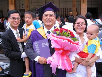 Grandpa graduated