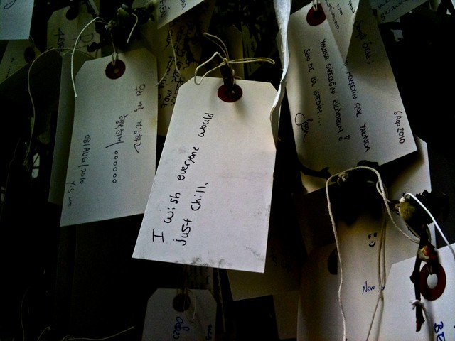 Yoko Ono's Wish Tree at the MOMA