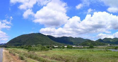 小田川から見えた風景
