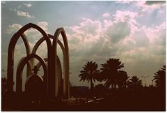 The Park (qatari star) Tags: sky dark gulf palm doha qatar الخليج الكورنيش قطر الدوحة الحديقة