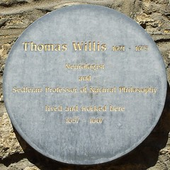 Photo of Thomas Willis grey plaque