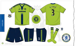 Chelsea third kit 2010/2011 (7football) Tags: 3 shirt football chelsea cole ashley jersey adidas uefa championsleague maillot 2010 calcio 1011 maglia premierleague trikot 2011 201011 20102011